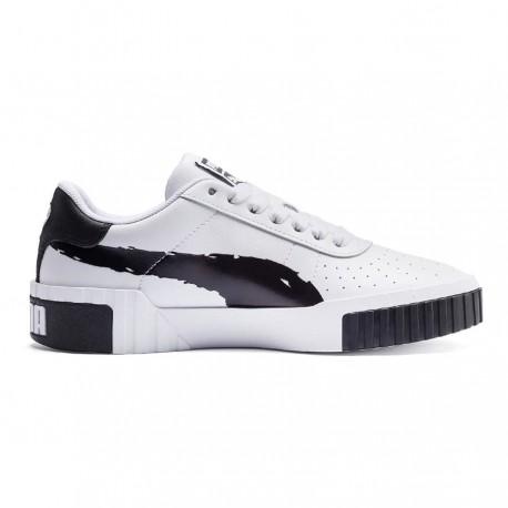 Puma Sneakers Cali Brushed Bianco Nero Donna