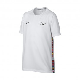 Nike T-shirt Manica Corta CR7 Bianco Nero Uomo