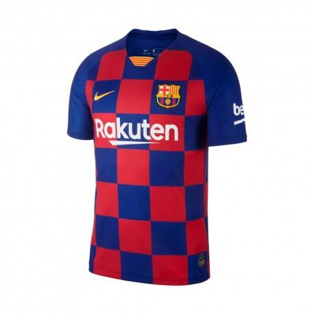 Nike T-Shirt Manica Corta Barcelona Home Blu Giallo Uomo