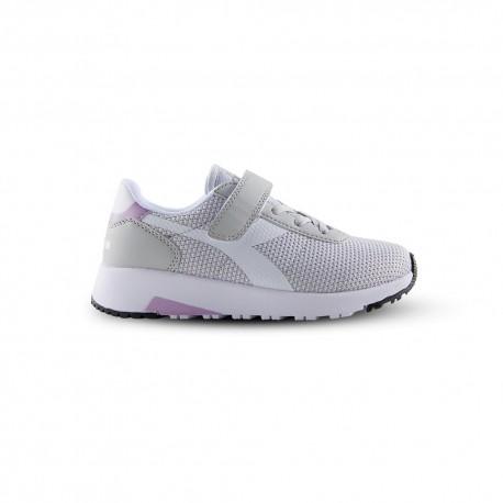 Diadora Sneakers Evo Run Psv Argento Bianco Bambino