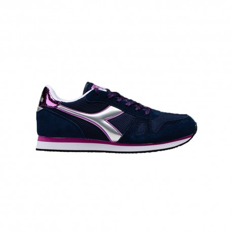 Diadora Sneakers Simple Run Blu Argento Donna