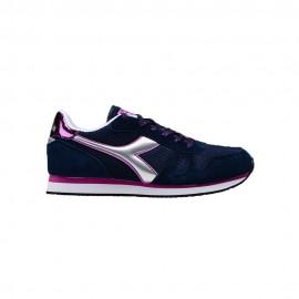 Diadora Sneakers Simple Run Blu Argento Donna