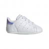 ADIDAS originals sneakers stan smith crib bianco argento bambino