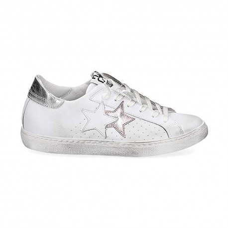 2star Sneakers Flat Rosa Donna