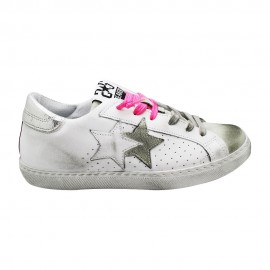 2star Sneakers Flat Fluo Rosa Donna