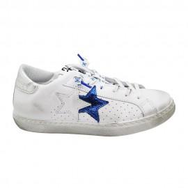 2star Sneakers Flat Blu Donna