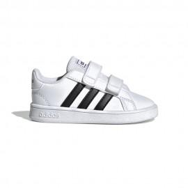 ADIDAS sneakers grand court i bianco nero bambino