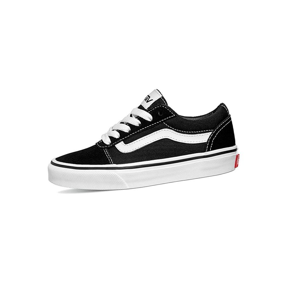 Vans Sneakers Ward Suede Canvas Nero Bianco Bambino - Acquista ...