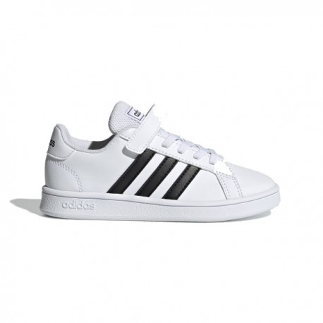 ADIDAS sneakers grand court c bianco nero bambino