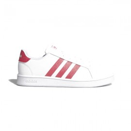 ADIDAS sneakers grand court k bianco rosa bambino