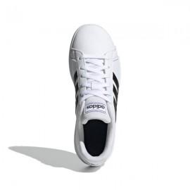 ADIDAS sneakers grand court k bianco nero bambino