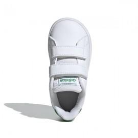 ADIDAS sneakers advantage i bianco verde bambino