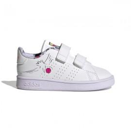 ADIDAS sneakers advantage i bianco lilla bambino