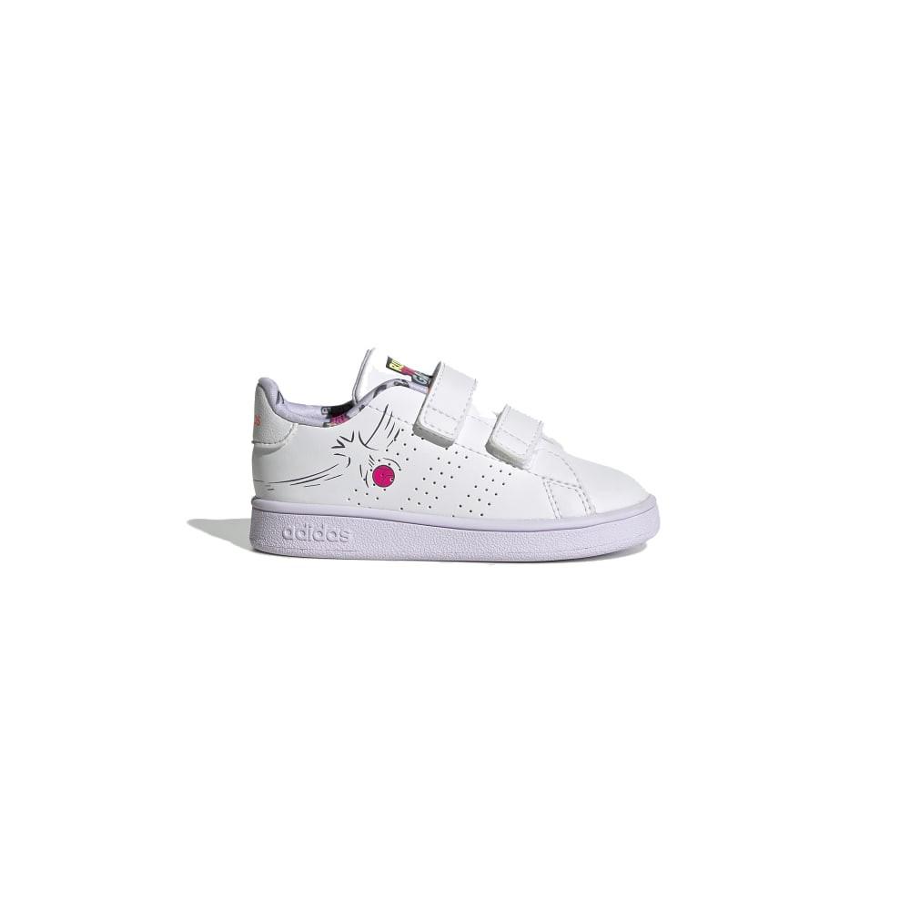 ADIDAS sneakers advantage i bianco lilla bambino Acquista