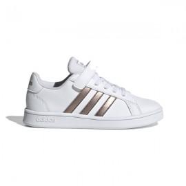 ADIDAS sneakers grand court c bianco oro metal bambino