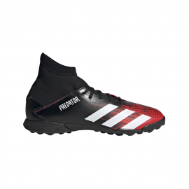 ADIDAS scarpe da calcio predator 20.3 tf nero bianco bambino