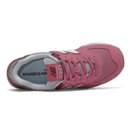 New Balance Sneakers 574 Suede Mash Cipria Bianco Donna