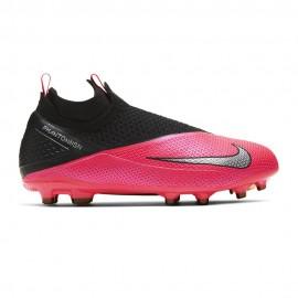 Nike Scarpe Da Calcio Phantom Vision 2 Elite FgMg Nero Argento Bambino