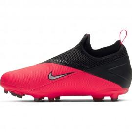 Nike Scarpe Da Calcio Phantom Vision 2 Academy Df Fg Mg Argento Rosso Bambino