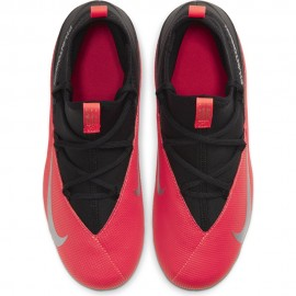 Nike Scarpe Da Calcio Phantom Vision 2 Club Df FgMg Nero Argento Bambino