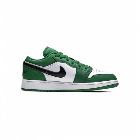 Nike Sneakers Jordan 1 Low Gs Verde Nero Bambino