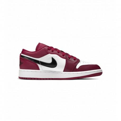 Nike Sneakers Jordan 1 Low Gs Rosso Nero Bambino