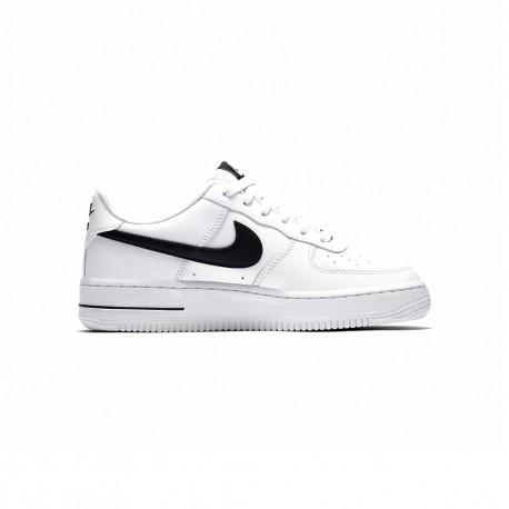 Nike Sneakers Air Force 1 Gs Bianco Nero Bambino