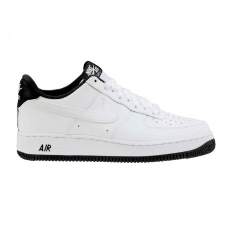 Nike Sneakers Air Force 1 07 1 Bianco Nero Uomo