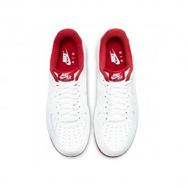 Nike Sneakers Air Force 1 07 1 Bianco Rosso Uomo