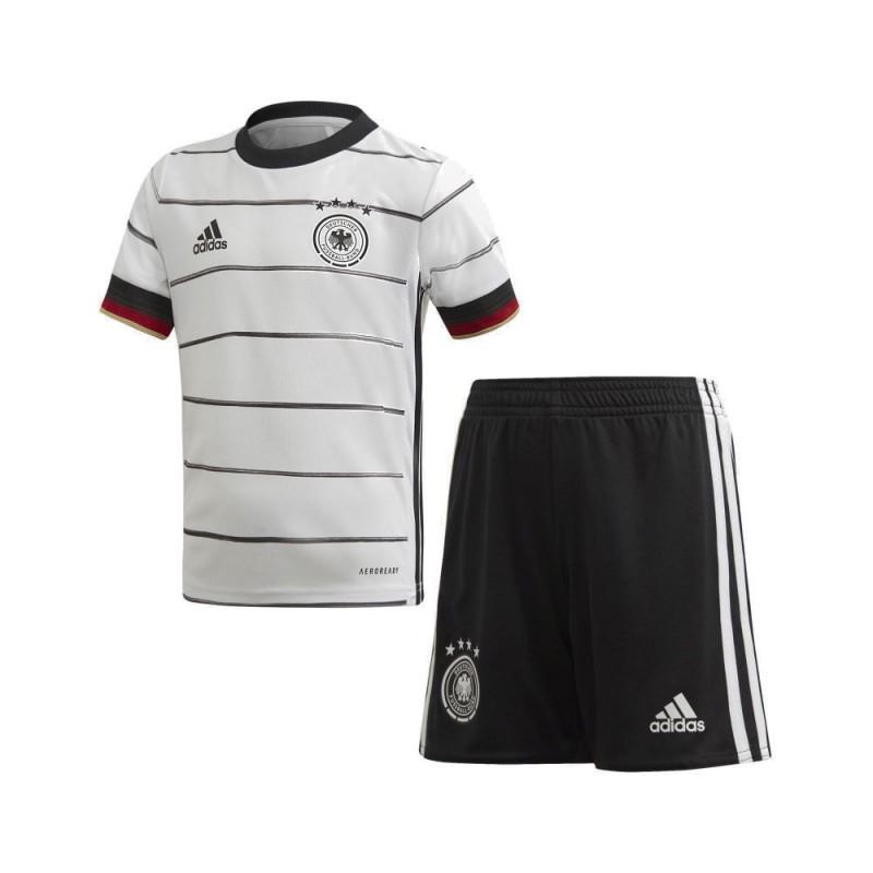 ADIDAS completo calcio germany home bianco nero bambino