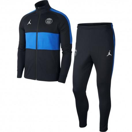 Nike Tuta Calcio Psg Dry Strike Jordan Nero Blu Uomo