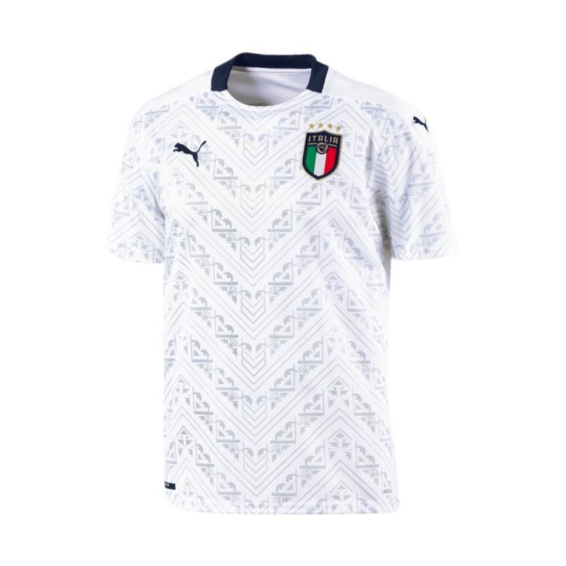 Puma Maglia Calcio Italia Away Replica Bianco Blu Uomo