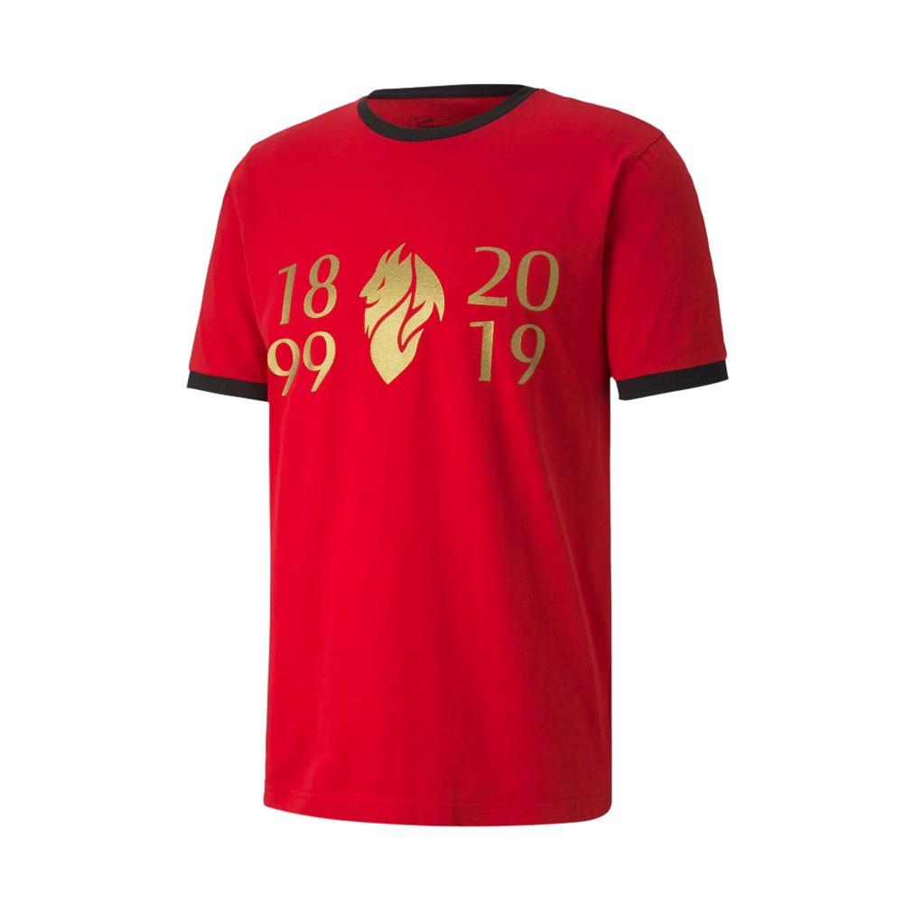 Puma Maglia Calcio Milan Fan 120 Rosso Nero Uomo