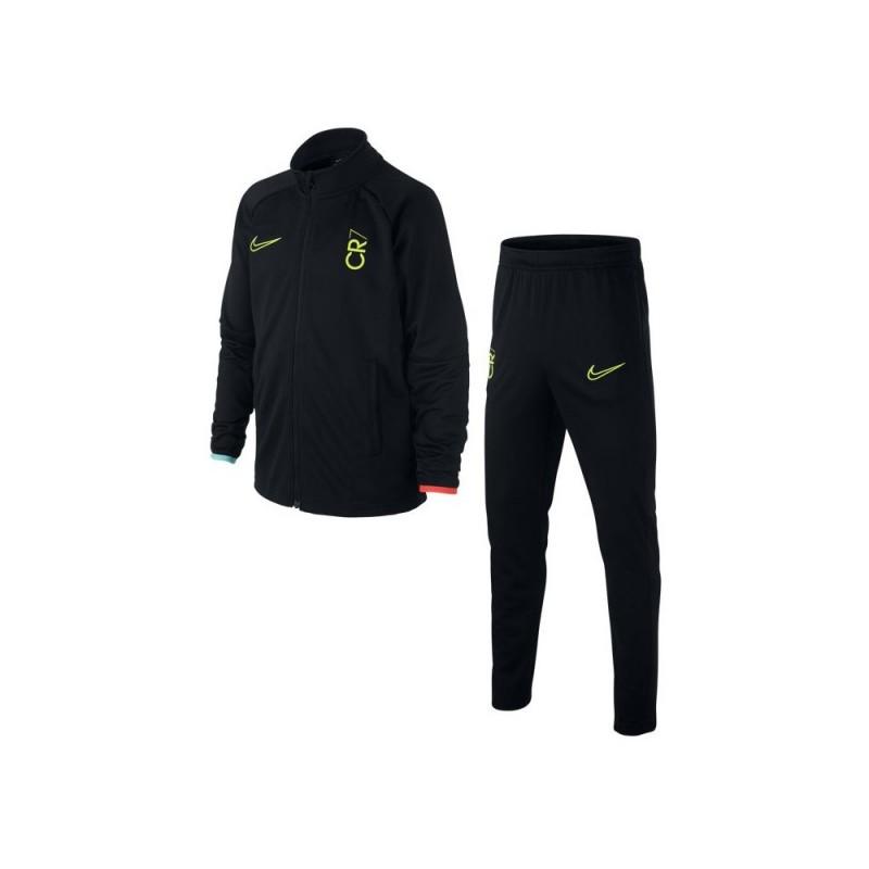 Nike Tuta Calcio Cr7 Dry Nero Giallo Bambino