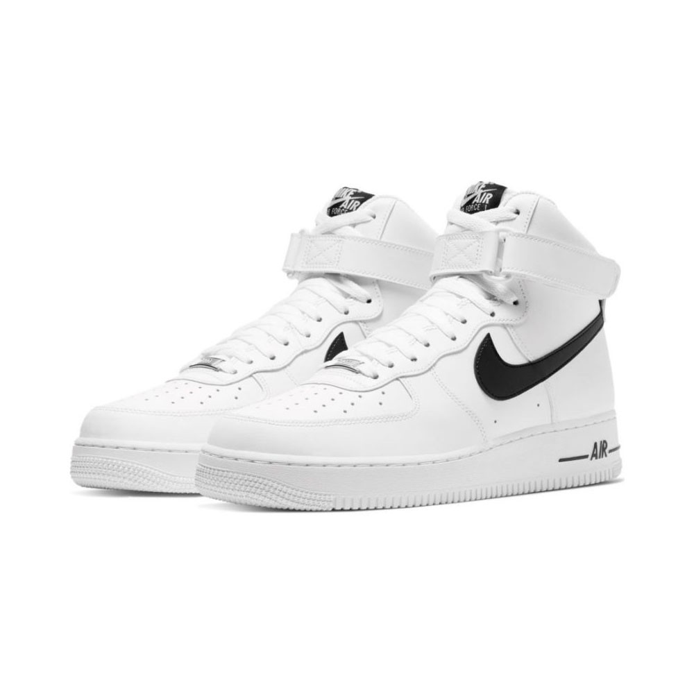 Nike Sneakers Air Force 1 Hi Bianco Nero Uomo
