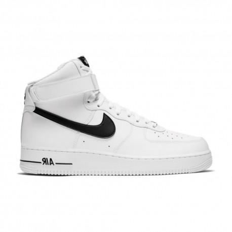 Nike Sneakers Air Force 1 Hi Bianco Nero Uomo