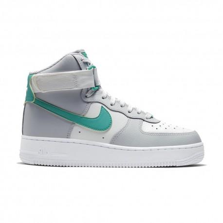 Nike Sneakers Air Force 1 Hi Grigio Verde Donna