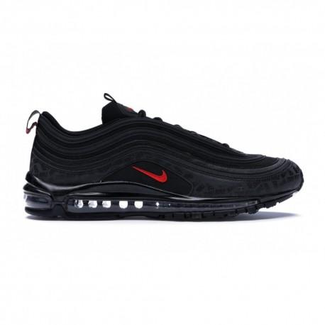Nike Sneakers Air Max 97 Nero Rosso Uomo
