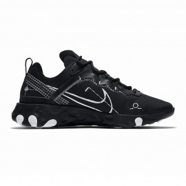 Nike Sneakers React Element 55 Nero Bianco Uomo