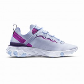Nike Sneakers React Element 55 Bianco Fucsia Donna