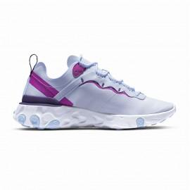 Nike Sneakers React Element 55 Bianco Fucsia Donna