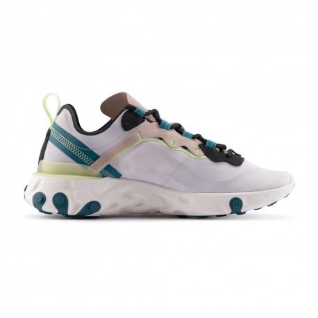 Nike Sneakers React Element 55 Grigio Nero Donna