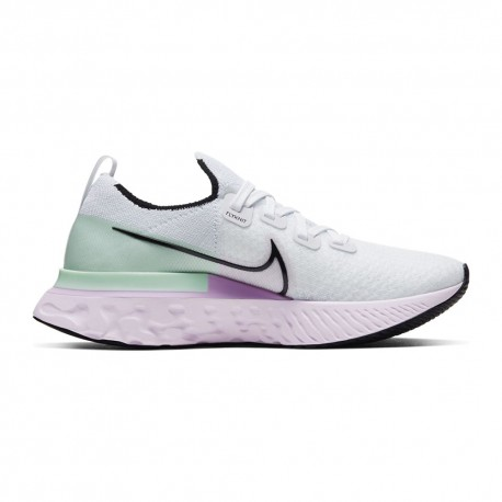 Nike Scarpe React Infinity Run Bianco Nero Verde Donna