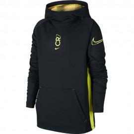 Nike Felpa Calcio C Cap Cr7 Dry Nero Yellow Bambino