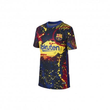 Nike Maglia Calcio Fcb Brt Pm2 Blu Bambino