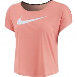 Nike Maglia Running Manica Corta Swoosh Rosa Donna