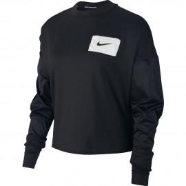 Nike Maglia Running Manica Lunga Rebel Nero Bianco Donna