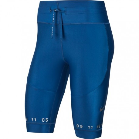 Nike Short Running City Tech Pack Blu Donna