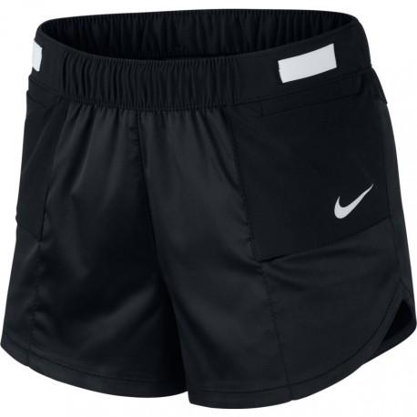 Nike Short Running Tempo Rebel Nero Bianco Donna