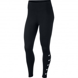 Nike Tight Running Swoosh Nero Bianco Donna